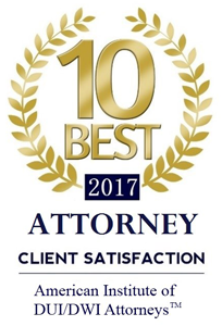 10 Best 2017 Attorney | Client satisfaction | American Institute of DUI/DWI Attorneys